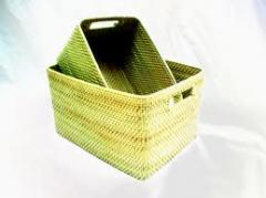 Set of 2 Rectangular Tote Hapao Basket
