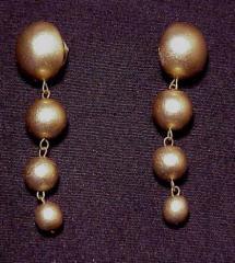 Round graduated wood earrings