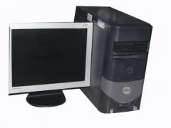 Dell Brand CPU Flat Screen Monitor Package