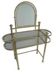 Brass Dresser with Mirror