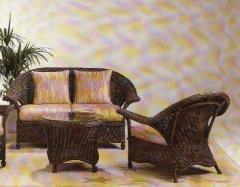 Set of wicker furniture Walnut