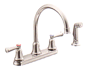 MOEN Kitchen Faucet with matching side spray