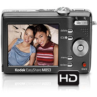 Kodak Easy Share M853 8MP 3XZoom (Black) camera