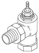 VB-7211-000-3-PP Union Angle Mount Two-way Valve