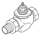 VB-7221-000-4-PPUnion Straightway Mount Two-way Valve