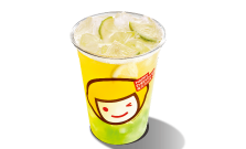 Lemon Pineapple with Nata Da Co drink