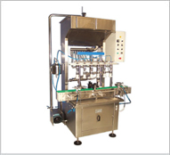 Automatic Linear 6 - Heads Pressure Filling Machine