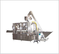 Automatic Rotary Gravity Vacuum Filling & Press-On Capping Machine