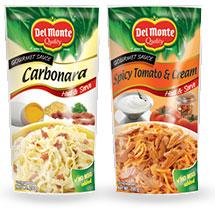 Del Monte new Gourmet Pasta Sauces