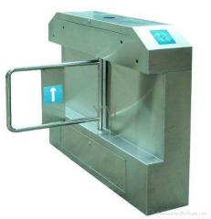 Bridge type flap turnstile