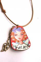 Believe angel necklace