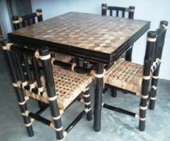 Bamboo Tiles Table