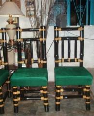 High Back Bamboo Chair