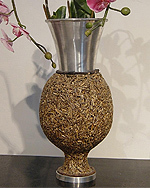 Decorative vase from waste