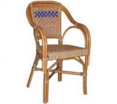 A chair  of bamboo.