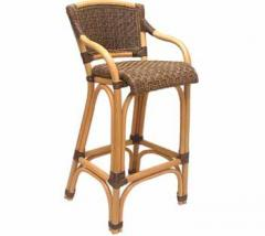 A chair  of bamboo for the bar