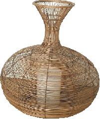 Wicker lampshade