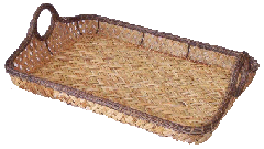 Tray for fruit chain