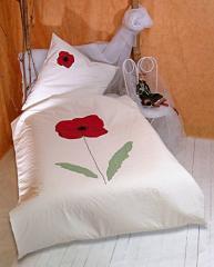 Bed linen poppy