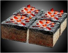 Briquettes of charcoal