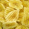 Sweetened rippled banana chips