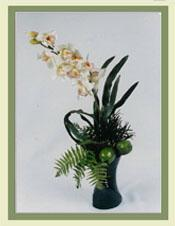 Orchids & Lime Flower Arrangement
