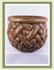Guilloche Planter Jar