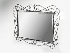 An elegant mirror in metal frame.