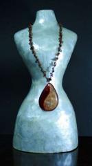 Pendant made of semiprecious stones.