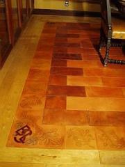 Leather  floor.