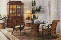 Wicker furniture set.