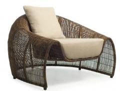 Wicker chair garden