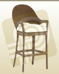 Bar chair is high.