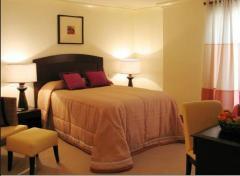 A set of bedroom furniture