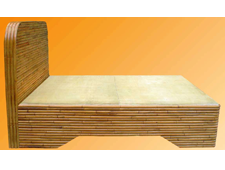 Wooden bed rattan