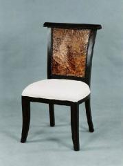Chair of natural wood.