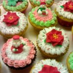 Festive cupcakes set.