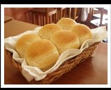 Bread Topped with Cream