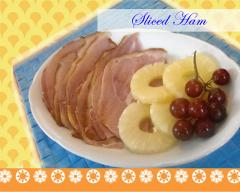 Sliced Ham steamed.