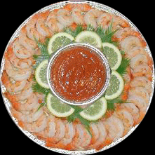 50 piece Shrimp Platter serves 5-6 people