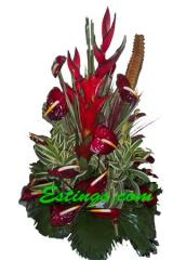 Bouquet with Red Anthurium