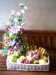 Fruit and Flower Basket USD$63.00