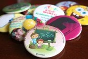 Button Pins  metal