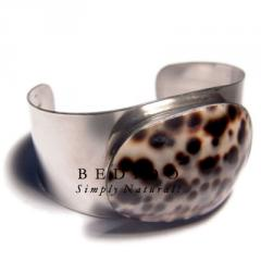Haute hippie 38mmx23mm metal Shell Bangles