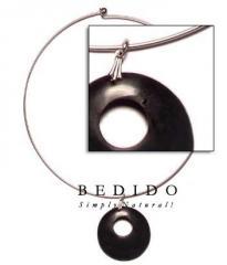 Ethnic nickel-free silver hoop ring