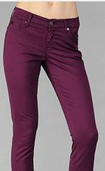 Skinny with Welt Pocket in Rich Shiny Sateen