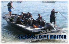 Boat for divers