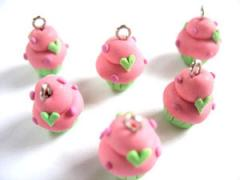 4pcs Mini Cupcakes Charms Code 2LHG-01 - Peach