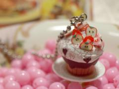 Cupcake Delight Pendant - Strawberry Choco