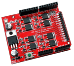 LED Matrix Common Cathode Driver Shield